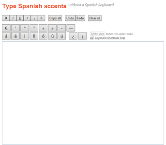 accents over capital letters in spanish